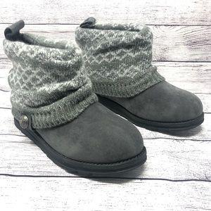 Muk Luks Patti Womens Ankle Boots Sweater Wrap 6